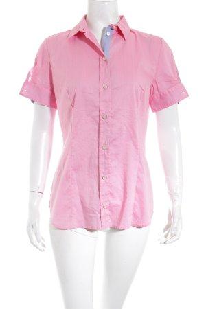 Boss Orange Kurzarm-Bluse rosa-hellblau sportlicher Stil