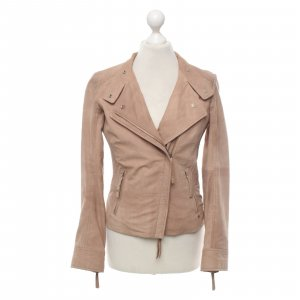 Boss Orange Lederjacke in beige
