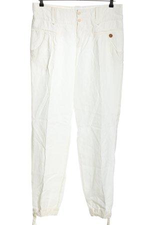 Boss Orange Pantalon en lin blanc style décontracté