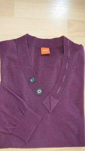 Boss Orange, Pullover, Gr. M, V Ausschnitt, Lila, Feinstrick