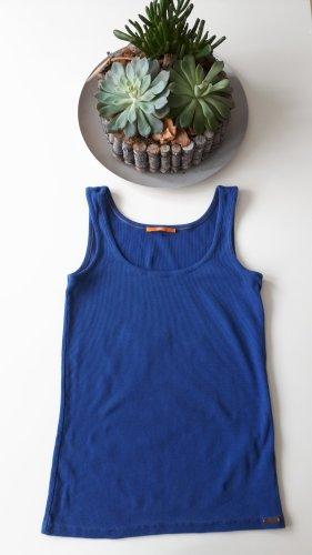 Boss Orange Camisa acanalada azul acero