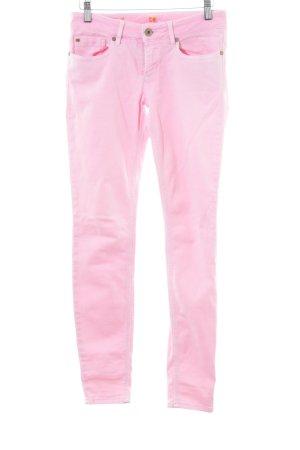 Boss Orange Röhrenjeans rosa-pink Casual-Look