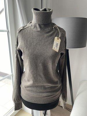 Boss Orange Fine Knit Jumper grey brown