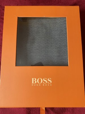 Boss Orange Écharpe en soie gris-bleu