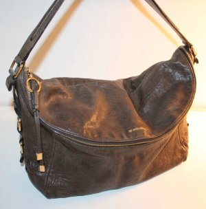 Boss Orange Shoulder Bag grey brown-brown leather