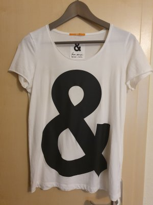 Boss Orange Camiseta blanco-negro