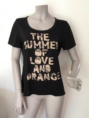 Boss Orange Statement Shirt schwarz Baumwolle Gr. L