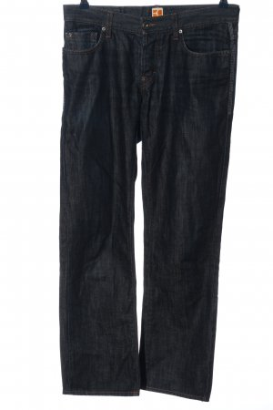 Boss Orange Straight Leg Jeans blue-dark blue cotton