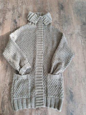 Boss Orange Veste tricotée en grosses mailles gris foncé