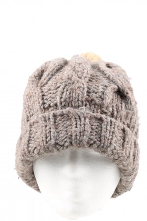 Boss Orange Knitted Hat brown flecked casual look