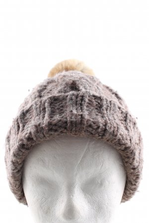 Boss Orange Knitted Hat brown cable stitch casual look