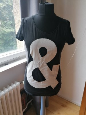 Boss Orange Camiseta estampada blanco-negro