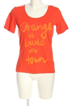 Boss Orange T-Shirt hellorange Schriftzug gedruckt Casual-Look