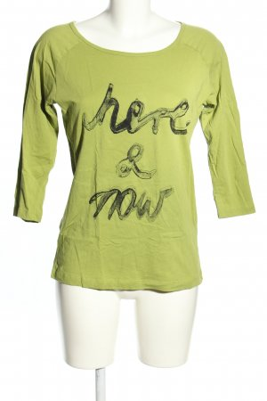 Boss Orange T-Shirt grün-schwarz Schriftzug gedruckt Casual-Look