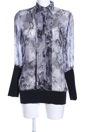 Boss Orange Transparent Blouse black-light grey abstract pattern business style