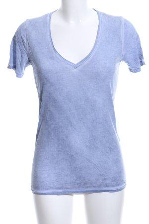 Boss Orange T-shirt col en V bleu moucheté style décontracté