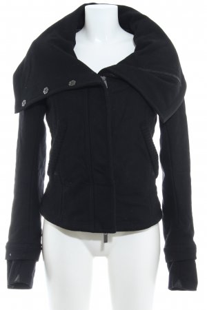 Boss Orange Wolljacke schwarz Casual-Look