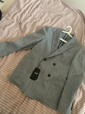 Hugo Boss Pinstripe Suit grey-black