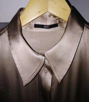 Hugo Boss Jedwabna bluzka złoto