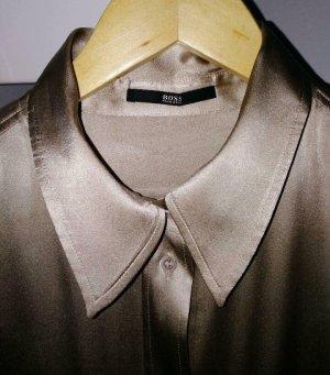 Boss Seidenhemd Seidenbluse gold M/38