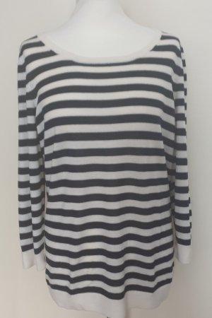 HUGO Hugo Boss Knitted Sweater white-black wool