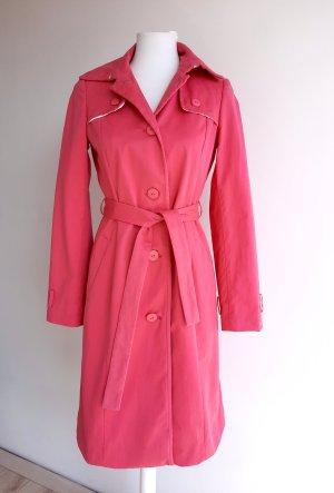Boss Trenchcoat roze-roze Katoen