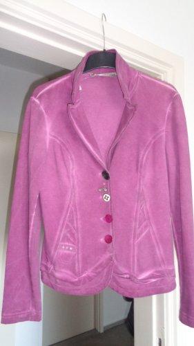 Bottega Blazer de tela de sudadera púrpura-magenta Licra