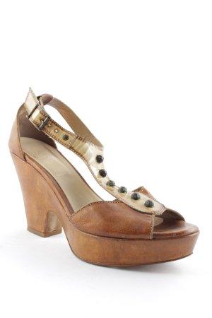 Bottega High Heel Sandaletten beige Vintage-Look