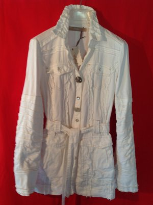 Bottega Safari Jacket white cotton