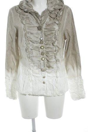 Bottega Long Sleeve Blouse beige color gradient washed look
