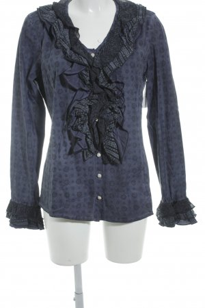 Bottega Camicetta a maniche lunghe viola scuro-blu-viola modello misto