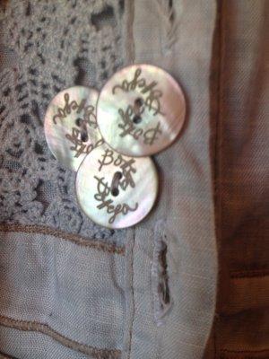 Bottega Veneta Long Jacket light grey-pale blue linen