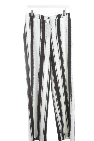 Bottega Marlenehose weiß-schwarz Streifenmuster Street-Fashion-Look