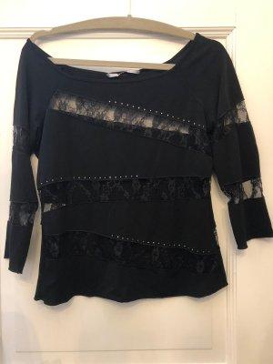Bottega Camisa de malla negro acetato