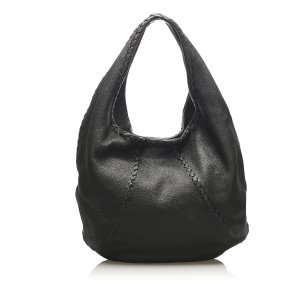 Bottega Veneta Baseball Leather Hobo Bag