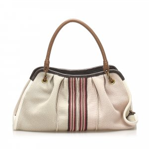 Bottega Veneta Canvas Handbag