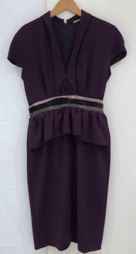 Bottega Veneta Cocktail Kleid Lila Stretch Crepe Seide 38 M Runway Dress Peplum