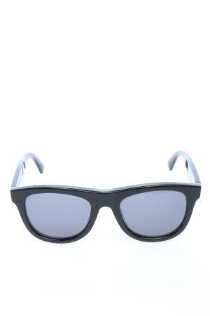 Bottega Veneta Hoekige zonnebril zwart casual uitstraling