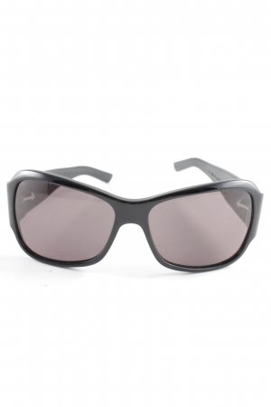 Bottega Veneta Angular Shaped Sunglasses black embossed logo