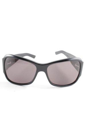 Bottega Veneta eckige Sonnenbrille schwarz Logoprägung