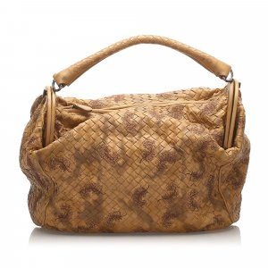 Bottega Veneta Embroidered Intrecciato Leather Handbag