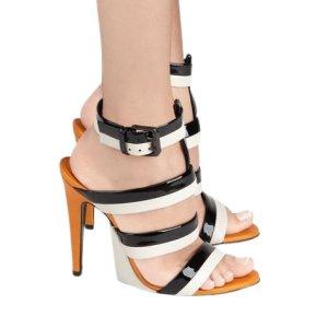 Bottega Veneta High Heel Sandaletten mehrfarbig Elegant