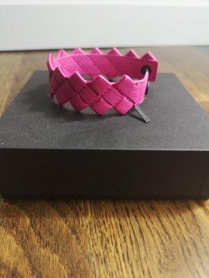 Bottega Veneta Leather Bracelet pink