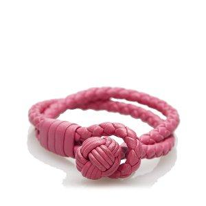 Bottega Veneta Armband rosé Leer