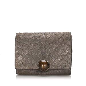 Bottega Veneta Intrecciato Calfskin Tri-Fold Wallet