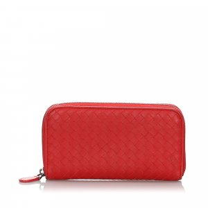 Bottega Veneta Intrecciato Calfskin Zip Around Wallet