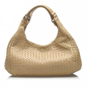 Bottega Veneta Intrecciato Campana Leather Hobo Bag