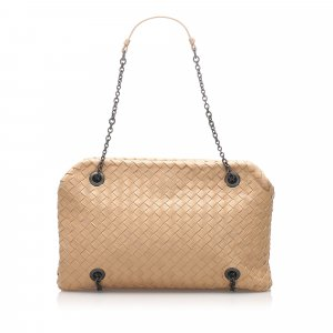 Bottega Veneta Intrecciato Chain Leather Shoulder Bag