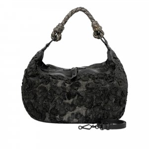 Bottega Veneta Intrecciato Flower Leather Satchel