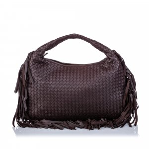 Bottega Veneta Hobos dark brown leather